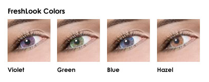 FreshLook Colors - Violet, Green, Blue and Hazel