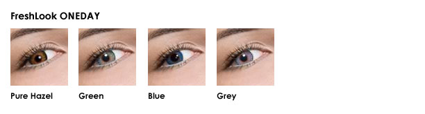 FreshLook ONEDAY - Pure Hazel, Green, Blue and Grey
