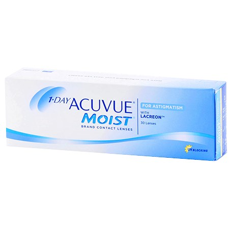 5c816ac9f7e 1-DAY ACUVUE MOIST for ASTIGMATISM 30 Pack Contact Lenses by Johnson ...