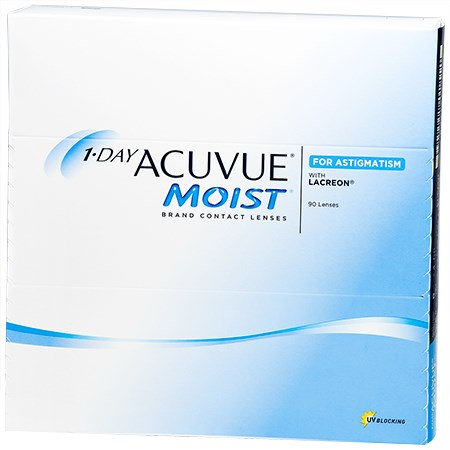 0a7db8d17bc 1-DAY ACUVUE MOIST for ASTIGMATISM 90 Pack Contact Lenses by Johnson ...