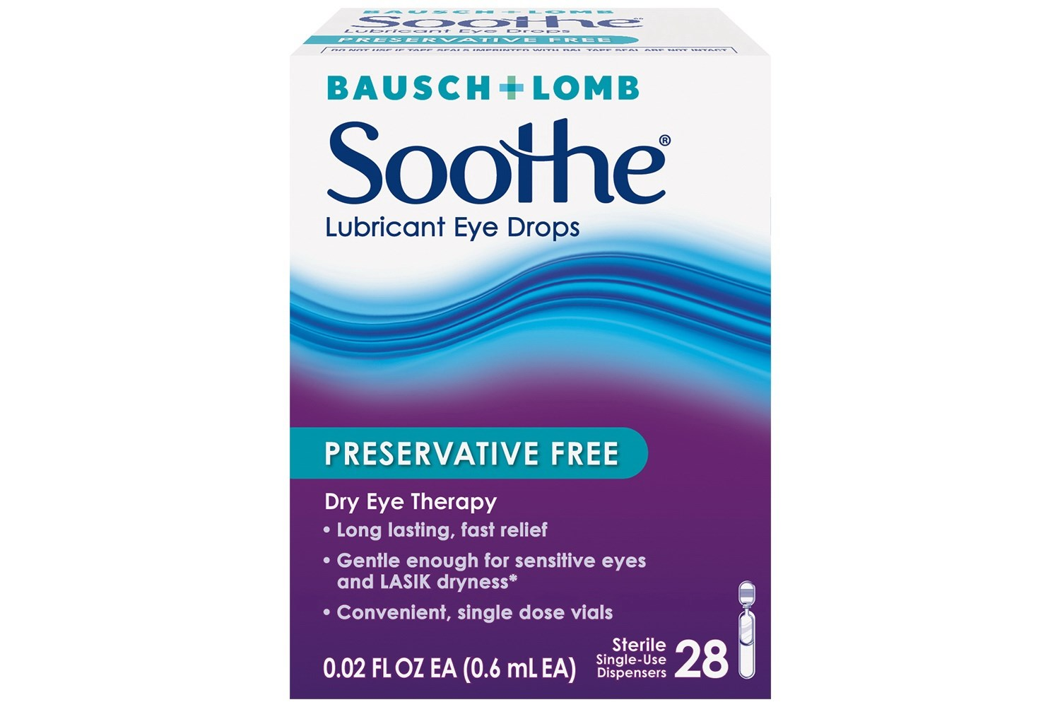 Bausch & Lomb Soothe Lubricant Eye Drops (28 ct.)