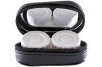 Click to swap image to Amcon Leather Contact Lens Cases Cases - Black