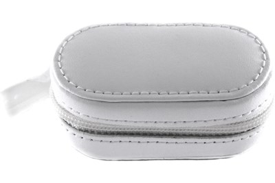 Amcon Leather Contact Lens Cases White