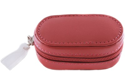 Amcon Leather Contact Lens Cases Red