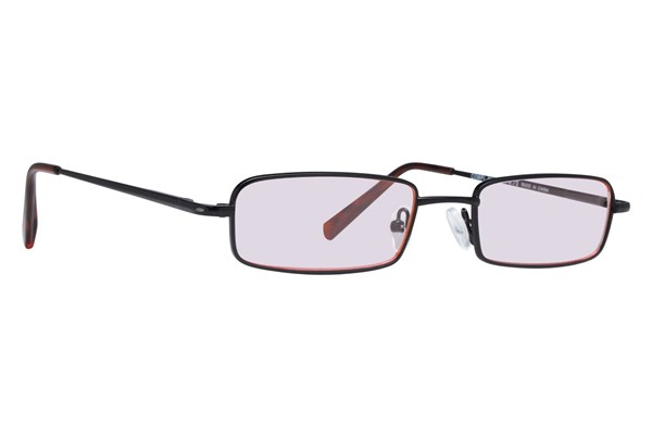 CalOptix Medium Rectangle Black Computer Glasses ComputerVisionAides - Black