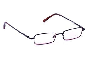 CalOptix Medium Rectangle Black Computer Glasses Black