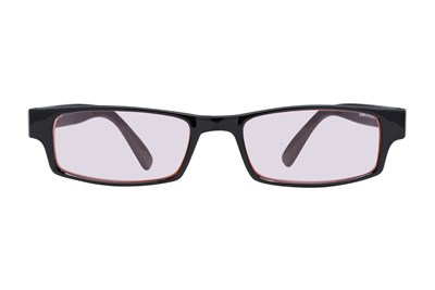 CalOptix Rectangle Plastic Black Frame Computer Glasses Black