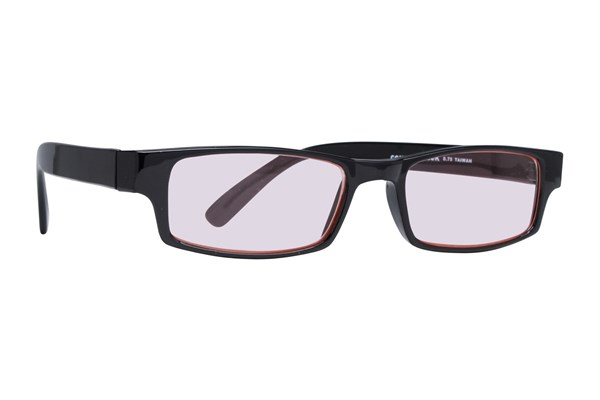 CalOptix Rectangle Plastic Black Frame Computer Glasses ComputerVisionAides - Black