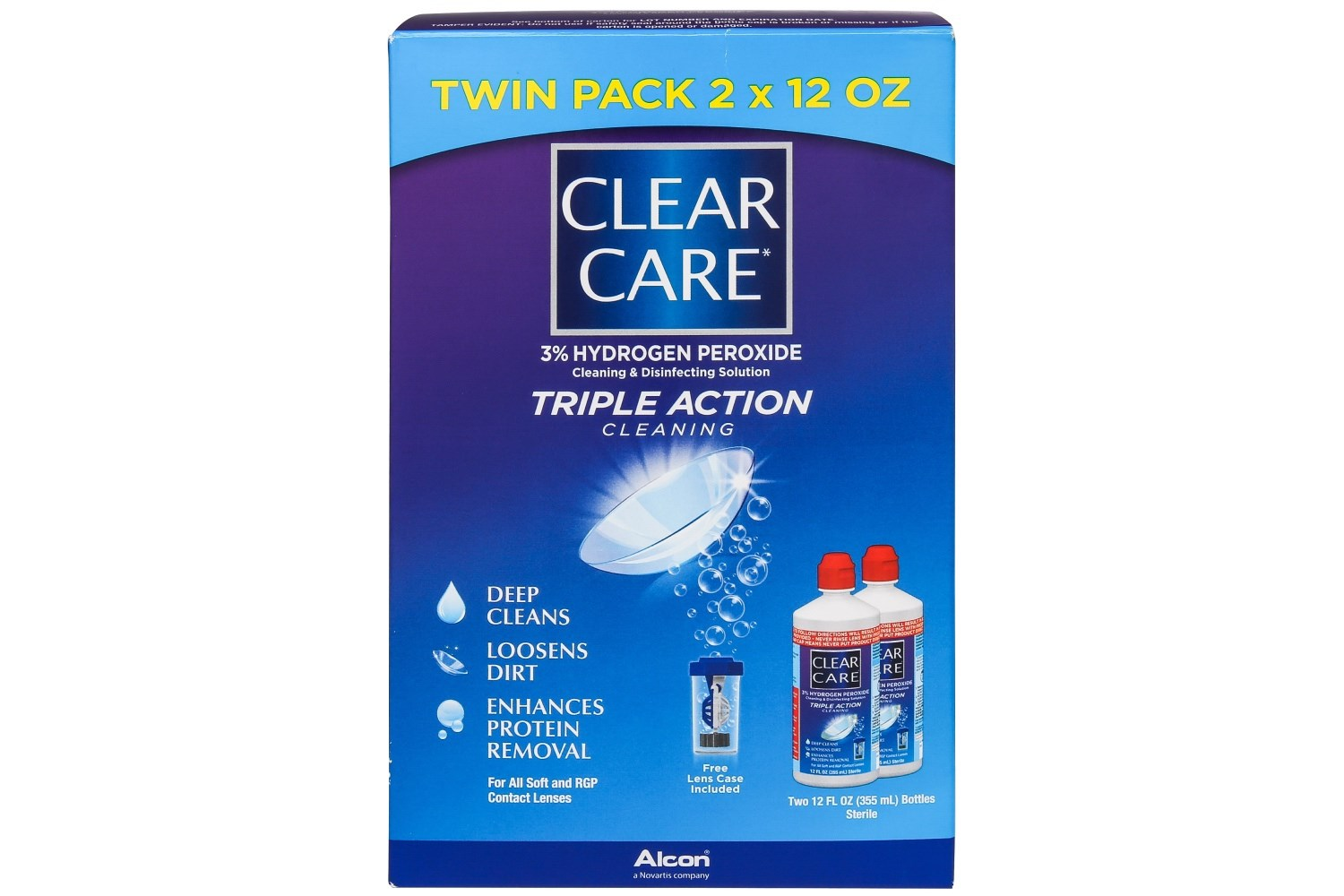 Clear Care Contact Lenses Cleaning and Disinfecting Solution Twin Pack