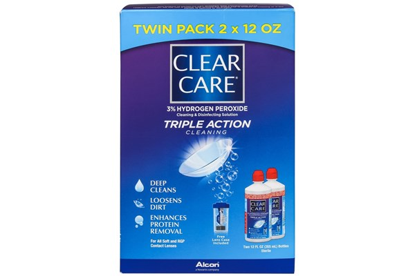 Clear Care Contact Lenses Cleaning and Disinfecting Solution Twin Pack SolutionsCleaners