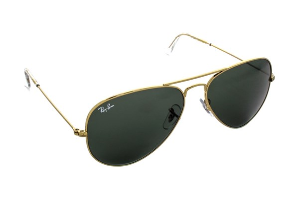 Ray-Ban® RB3025 58 Aviator Large Sunglasses - Gold