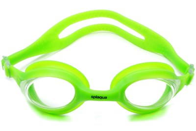 Splaqua Clear Prescription Swimming Goggles Green