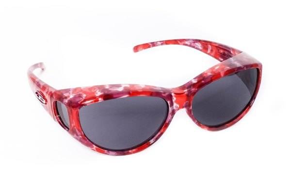 Fitovers Eyewear Ikara - Fit Over Prescription Sunwear for Corrective Eyewear Sunglasses - Red