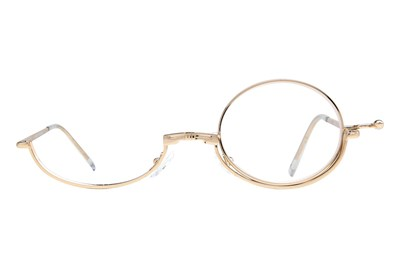 Amcon Metallic Makeup Glasses Gold
