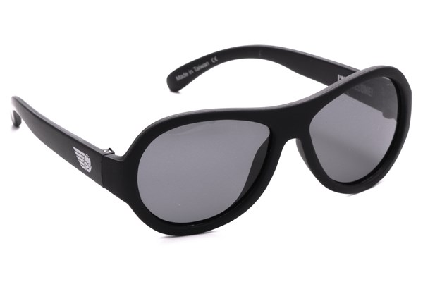 Babiators Polarized Sunglasses for Babies - Solid Sunglasses - Black