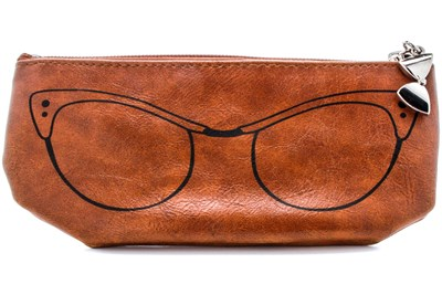 Corinne McCormack Cognac Cat Eye Soft Case Brown