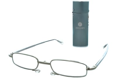 Peepers Periscope Folding Reading Glasses Silver
