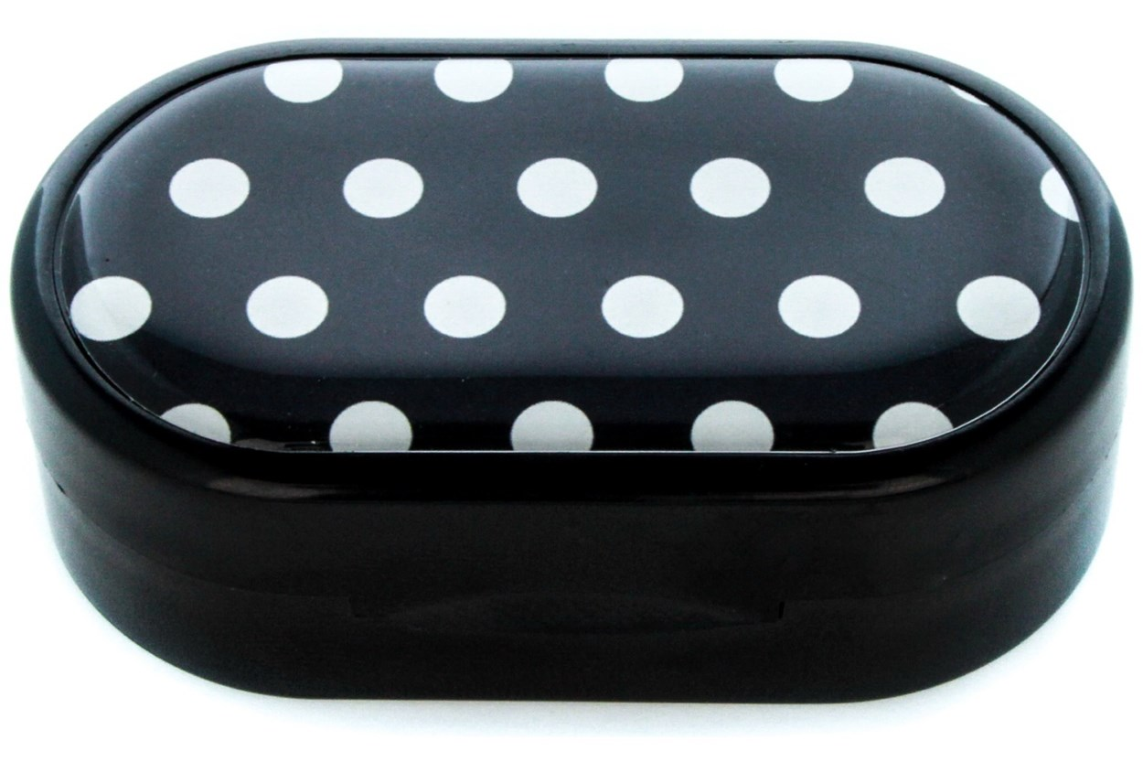 Amcon Polka Dot Designer Contact Lens Case Cases