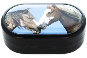 Amcon Horses Designer Contact Lens Case