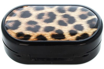 Amcon Leopard Designer Contact Lens Case