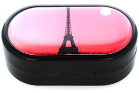 Amcon Moonlight Over Paris Designer Contact Lens Case
