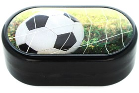 Amcon Soccer Black Designer Contact Lens Case