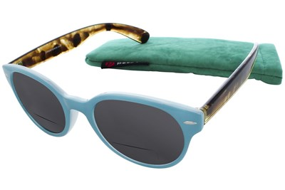 Peepers Fancy Voyage Bifocal Reading Sunglasses Blue