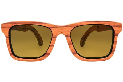 Parkman Sunglasses Steadman Zebrawood Red