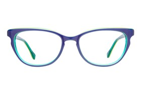 0d380f9d046 Discount Blue Cat Eye Glasses Frames with Prescription Lenses