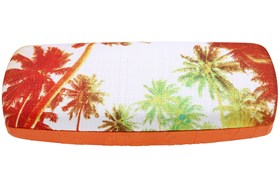 CalOptix Sunset Reflections Eyeglass Case Orange