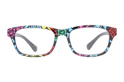 Evolutioneyes Handpainted Dog Bones Reading Glasses Black