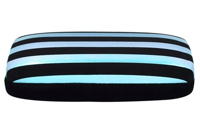 Evolutioneyes Velvet Stripe Eyeglass Case Black