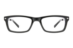 56f5383a43 Discount TapouT Black Glasses Frames with Prescription Lenses