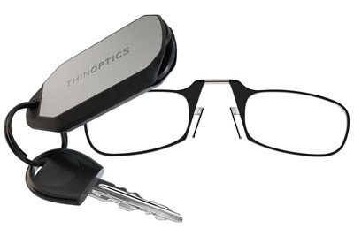 ThinOPTICS Keychain Case & Readers Black