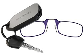 ThinOPTICS Keychain Case & Readers Purple