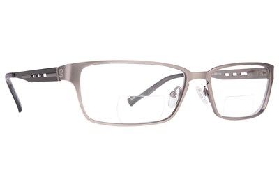 John Raymond Push Reading Glasses Gray