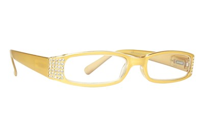 Eye Candy Sophisticated Specs Gold Reading Glasses Gold