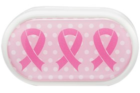 Amcon Pink Ribbons Graphic Compact Case