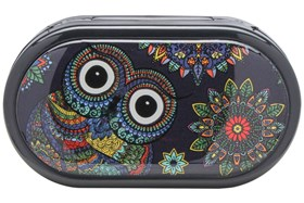 Amcon Owl Graphic Compact Case
