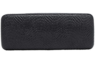 Evolutioneyes Textured Pebble Eyeglass Case Black