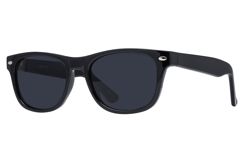 Lunettos Benson Black Sunglasses