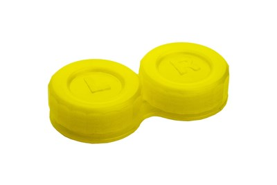 General Boilable Screw-Top Contact Lens Case Yellow