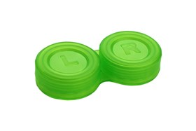 General Boilable Screw-Top Contact Lens Case Green