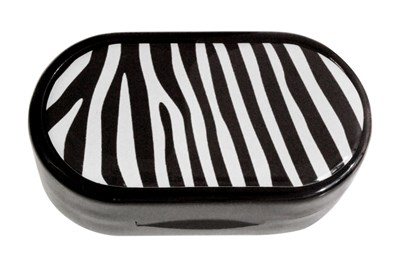 Amcon Zebra Designer Contact Lens Case