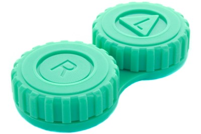General Screw-Top Contact Lens Case Green
