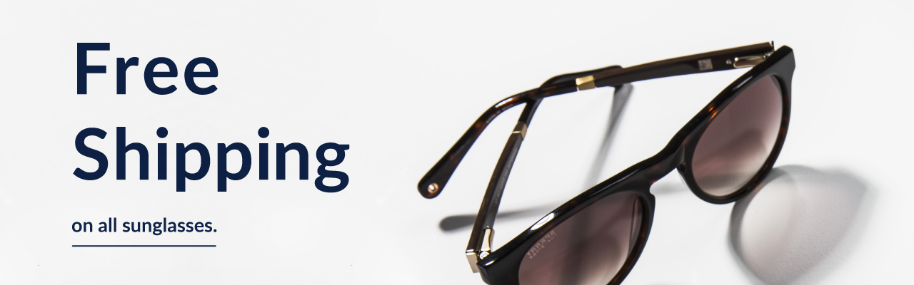 Free shipping on all sunglasses
