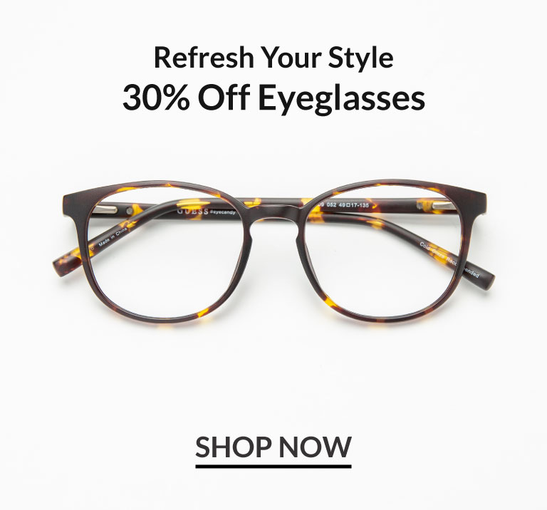 30% off Eyeglasses