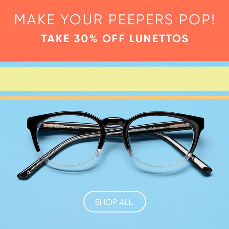 Take 30% off Lunettos