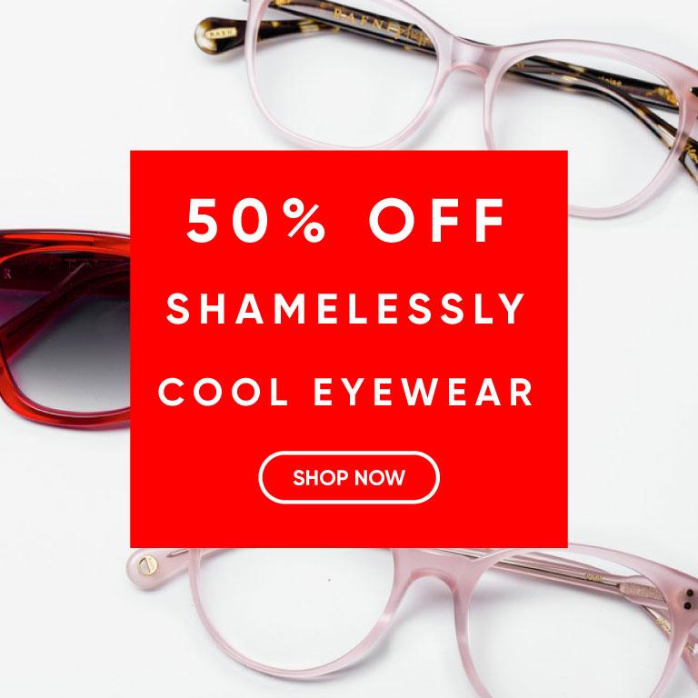 Take 50% off Eyeglasses