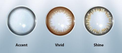 Accent, Vivid, Shine